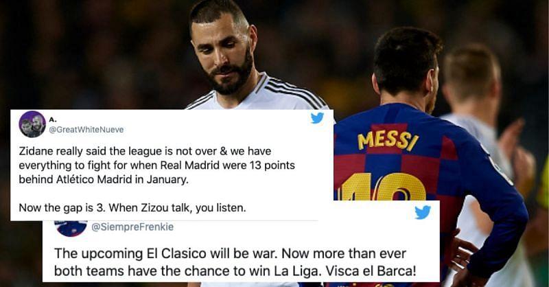 The El Clasico between Real Madrid and Barcelona next weekend could decide La Liga