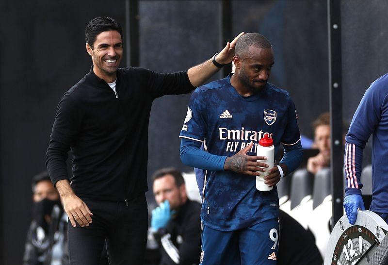 Arsenal boss Mikel Arteta has revealed that the club will address Alexandre Lacazette