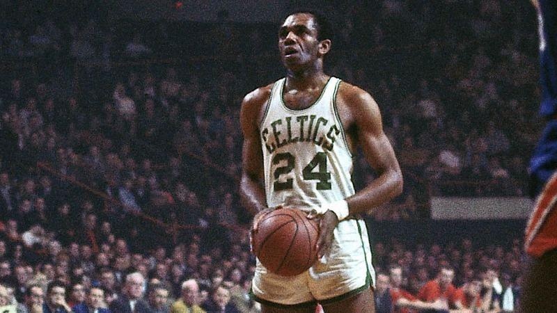Sam Jones with the Boston Celtics