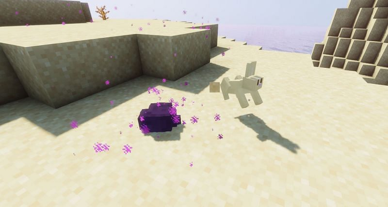 Shown: A comparison between two very small mobs! (Image via Minecraft)