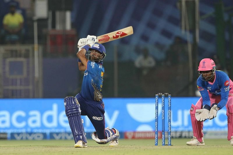 Krunal Pandya batted well at no.4 in the last game.. (Image Courtesy: IPLT20.com)