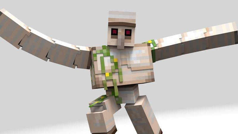 Iron golem appearance (Image via mcmobs.fandom.com)