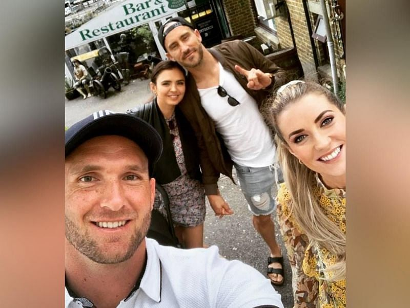 Faf Du Plesis's with Rhemi Rynner and Hardus Viljoen