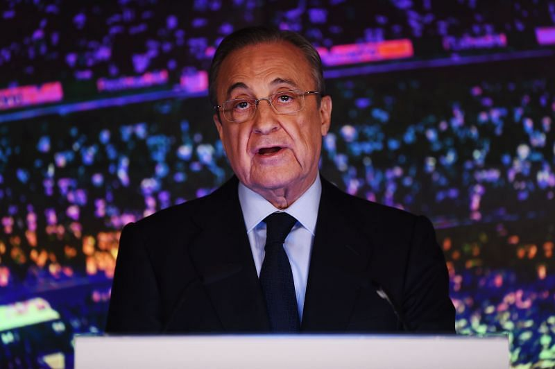 Real Madrid President Floretino Perez