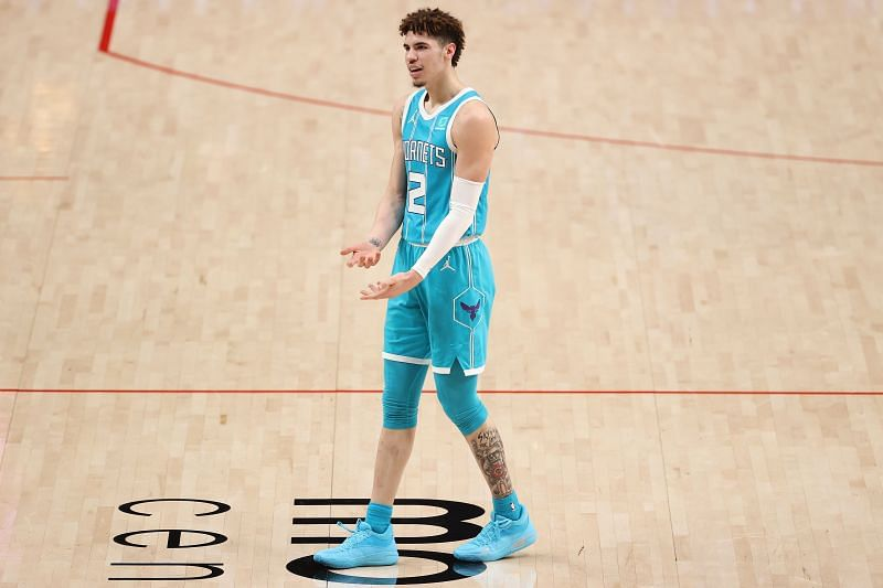 LaMelo Ball in action for the Charlotte Hornets.