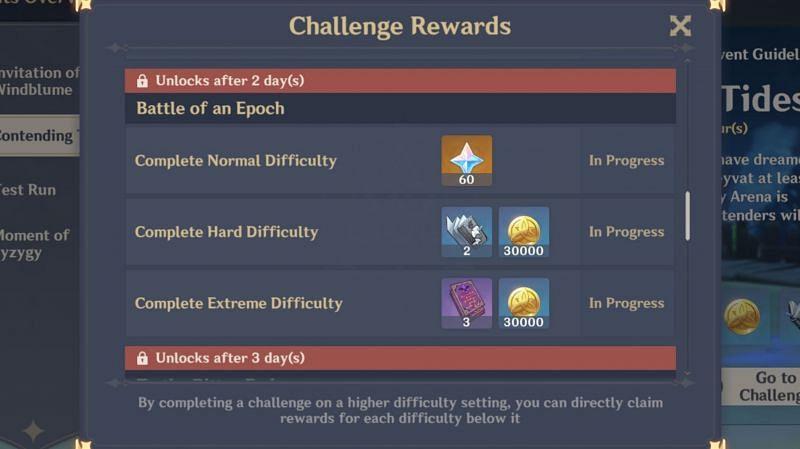 """Battle of an Epoch"" reward (Day 4)"