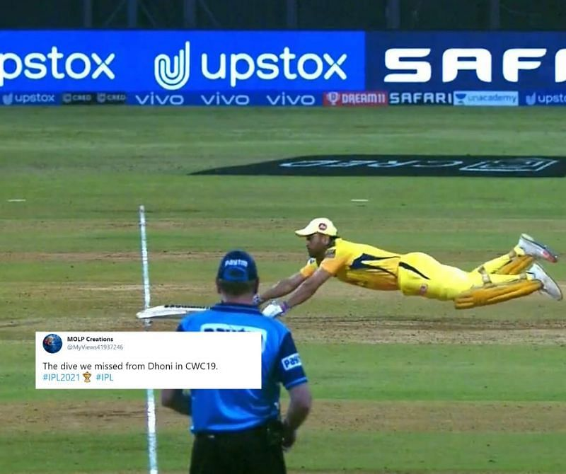 MS Dhoni was trolled for his CSK dive against RR