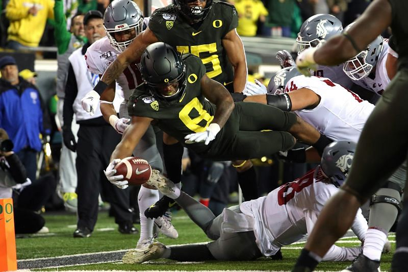Oregon Ducks Safety Jevon Holland Had 9 Total Interceptions In His First Two College Seasons. He Could Be An Attractive Player For The Dolphins To Pursue.