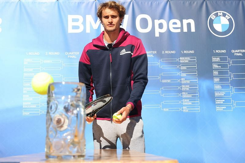 Alexander Zverev enters the BMW Munich Open as the top seed