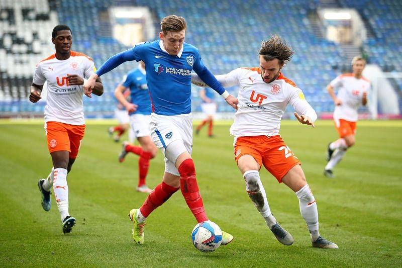 Ronan Curtis of Portsmouth in action
