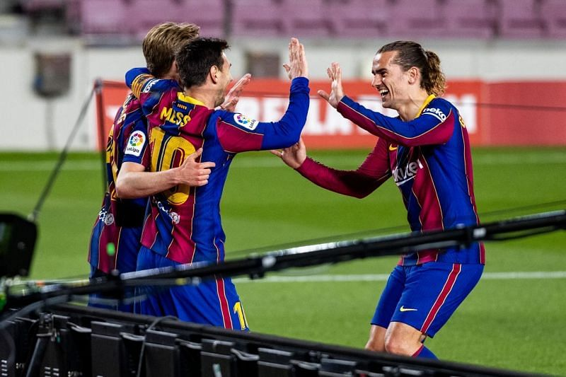 Barcelona thumped Getafe 5-2 in La Liga