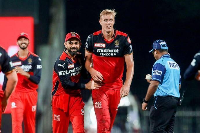 Virat Kohli and Kyle Jamieson (PC: IPL)