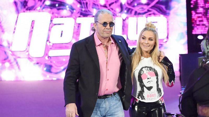 Bret Hart accompanied Natalya at WWE Payback 2016