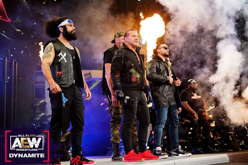 The Inner Circle makes their entrance on the April 28th AEW Dynamite.
