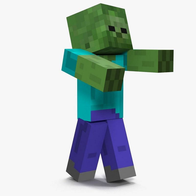 Zombies in Minecraft (Image via turbosquid)