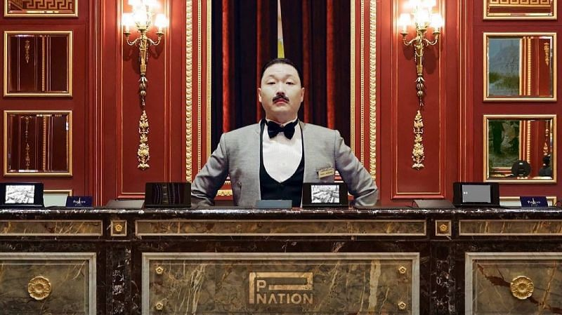 Psy in the teaser for P NATION