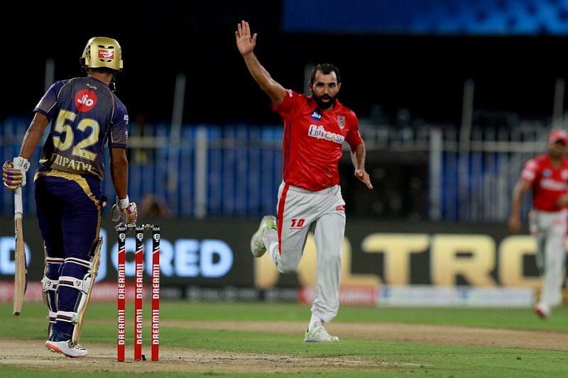 Shami celebrating the wicket of Rahul Tripathi (Credits : BCCI)
