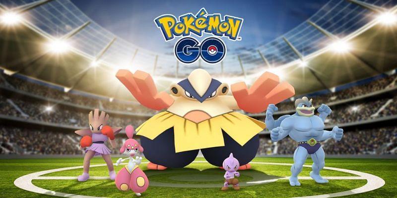Fighting-types in Pokemon GO (Image via Niantic)