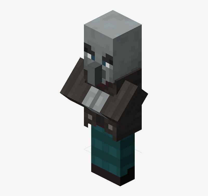 Vindicator in Minecraft (Image via kindpng)