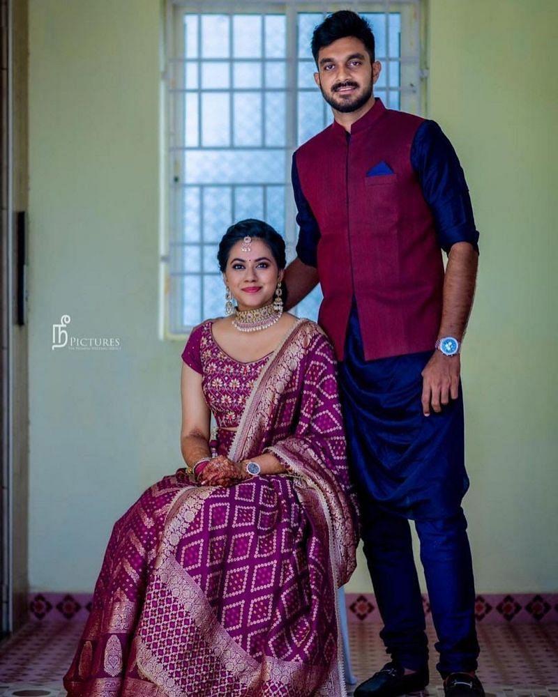 Vijay Sankar with wife Vaishali Visweswaran