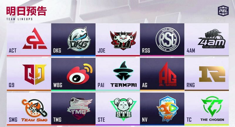 PEL 2021 Season 2 week 1 day 2 Teams