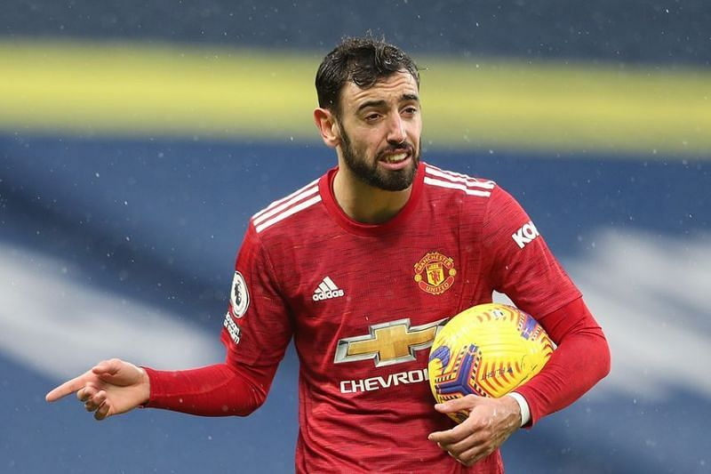 Bruno Fernandes netted a penalty in Man Utd's 1-6 defeat to Spurs earlier this season.