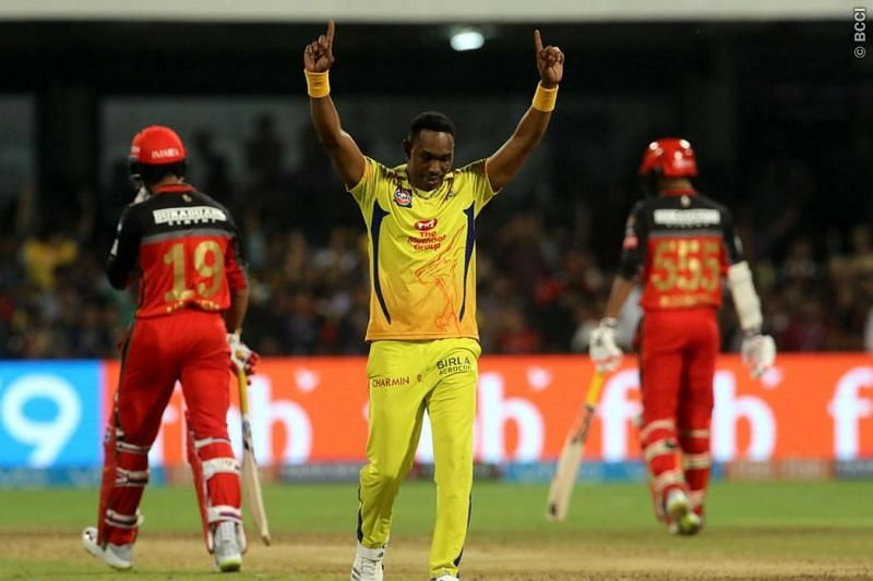 Dwayne Bravo gets a wicket for CSK Source: Sportzpics for BCCI