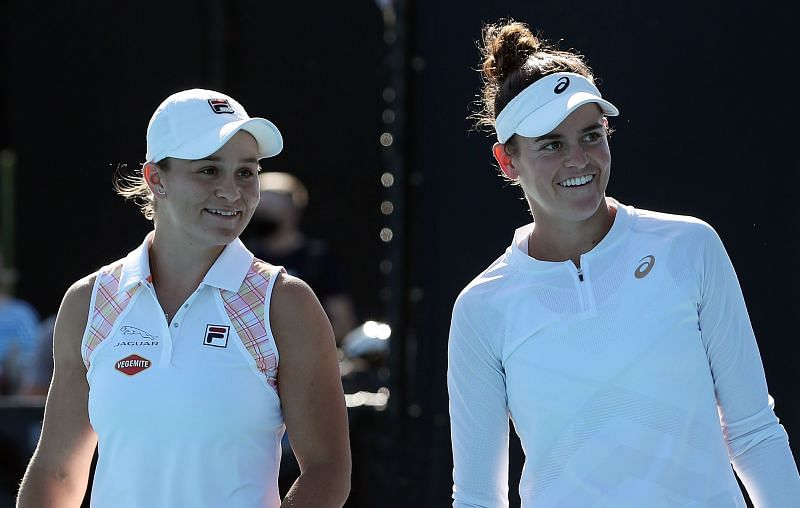 Ashleigjh Barty (L) and Jennifer Brady are among the big names in the packed top half