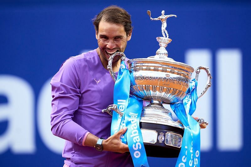 Rafael Nadal with his Barcelona Open title