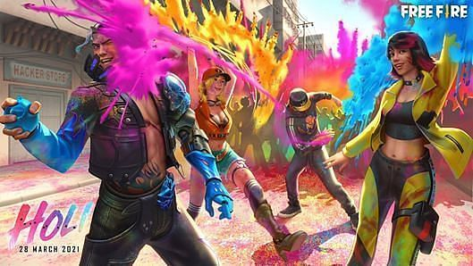 Free Fire Holi Celebration