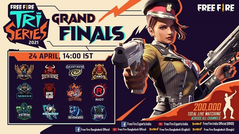 Free Fire Tri-series 2021 Grand Finals