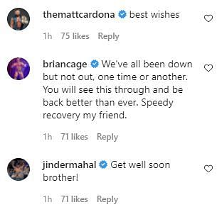 Several wrestlers sent their wishes to EC3 for a full recovery