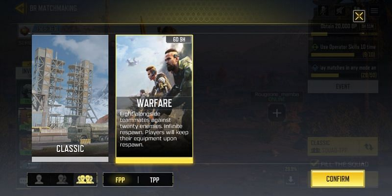 BR Warfare mode is featured in the Carnage event of COD Mobile (Image via Activision)