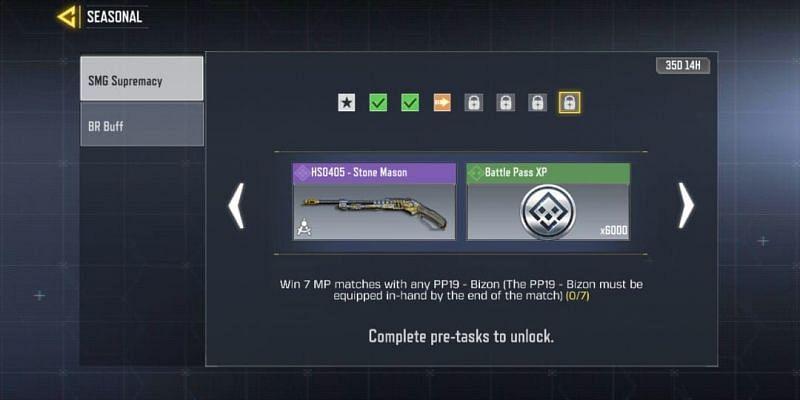 SMG Supremacy - Seventh task (Image via Activision)
