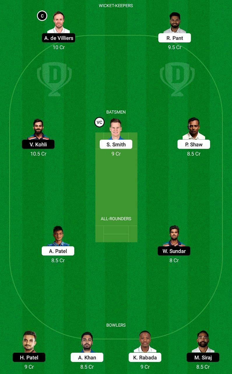 DC vs RCB IPL 2021 Dream11 Tips