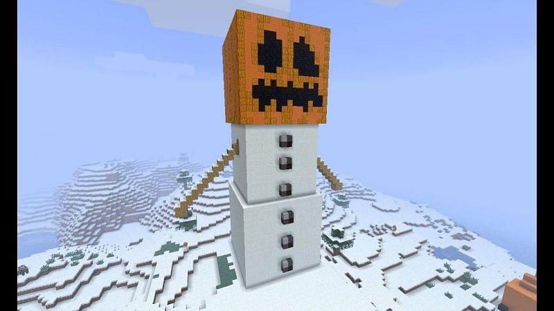 Snow golem Minecraft (Image via YouTube)