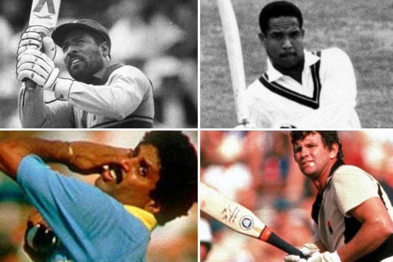 Clockwise: Viv Richards, Garry Sobers, Lance Cairns and Kapil Dev