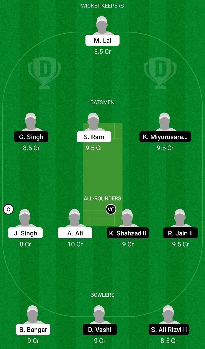 Dream11 Team for Albano vs Milan Cricket Club - ECS T10 Milan 2021.