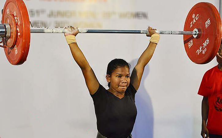 Jhilli Dalabehera won her maiden gold at the Asian Weightlifting Championships. (Image source: Sportstar)