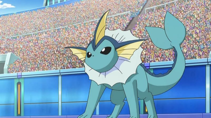 Vaporeon in the anime (Image via The Pokemon Company)