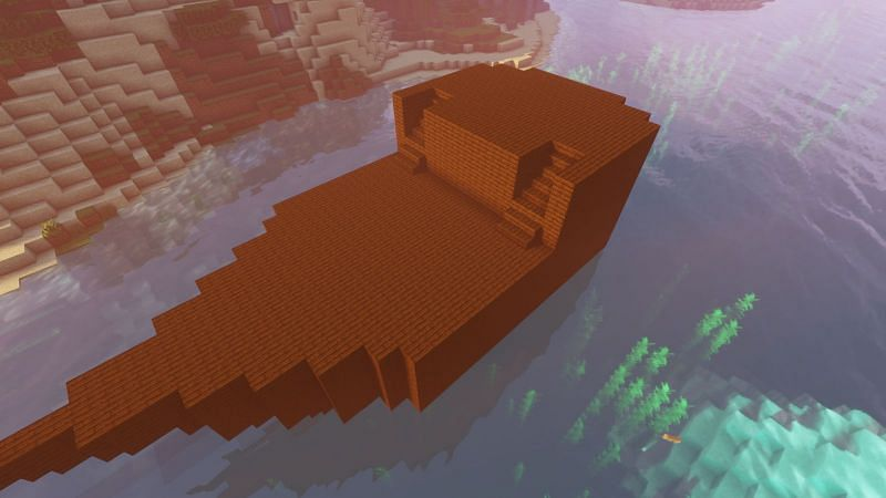 Shaping the bottom in Minecraft