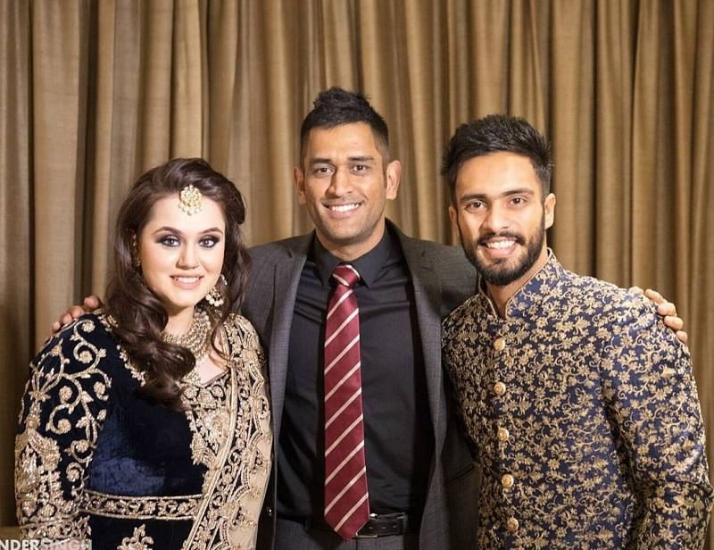 MS Dhoni at Mandeep Singh's Marriage Ceremony