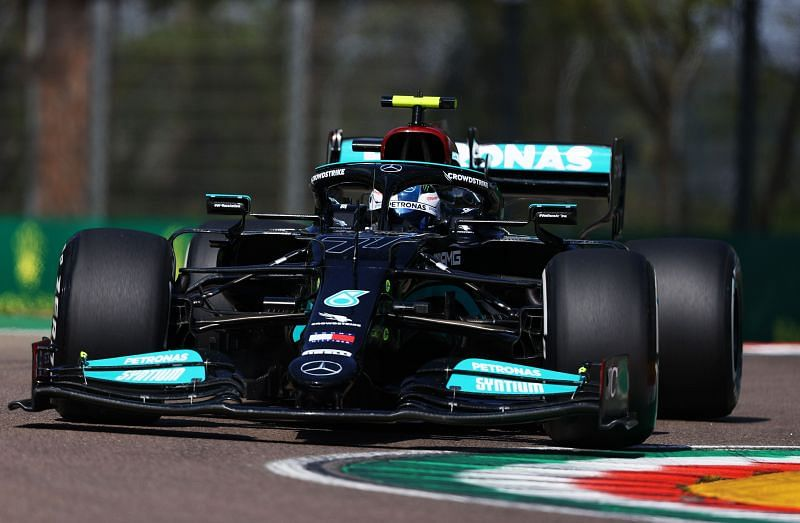 Bottas topped the first free practice session at Imola. Photo: Brynn Lennon/Getty Images.