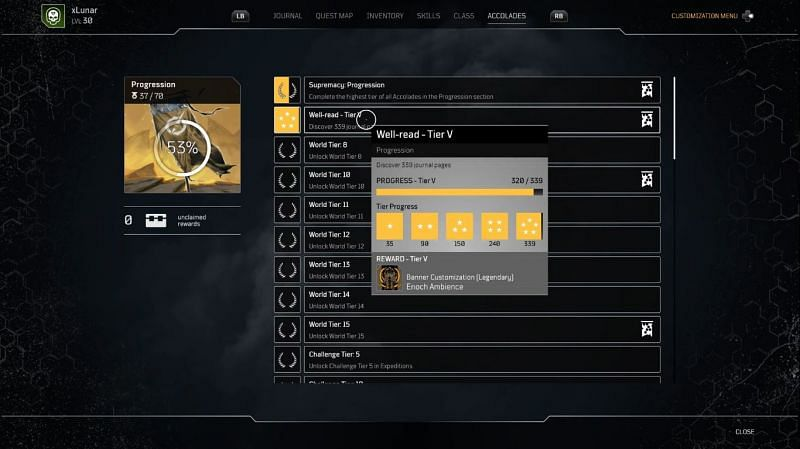 Outrdiers Journal locations Well-read medal (Image via LunarGaming)