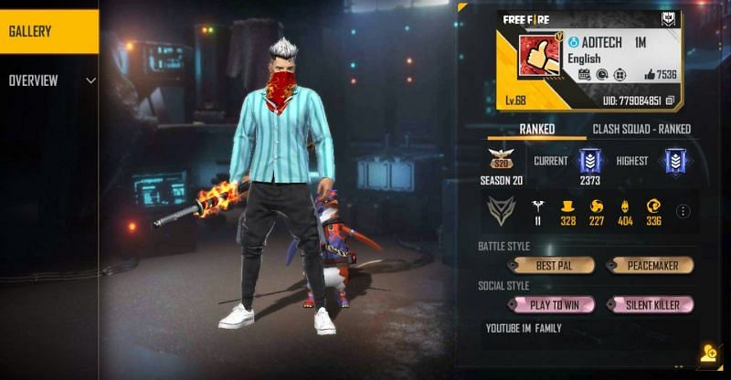Aditech is one of the most popular Indian Free Fire content creator
