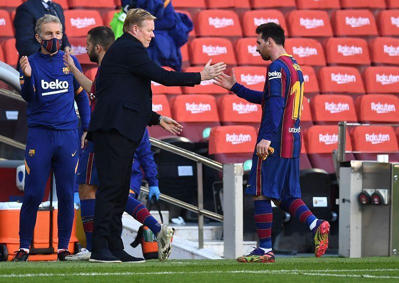Lionel Messi and Ronald Koeman enjoy a good relationship
