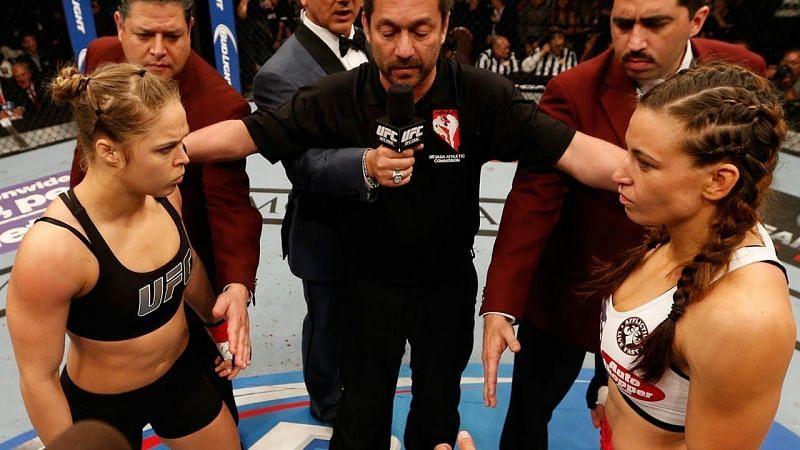 Ronda Rousey and Miesha Tate