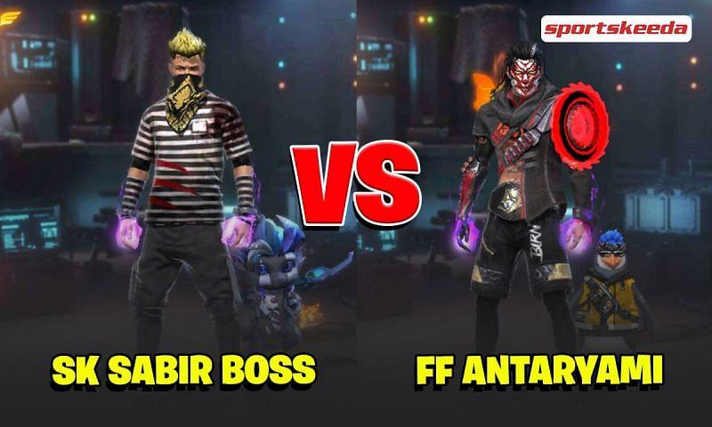 SK Sabir Boss and FF Antaryami in Garena Free Fire
