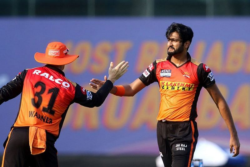 Khaleel Ahmed has picked up four wickets for the Sunrisers Hyderabad in IPL 2021 (Image Courtesy: IPLT20.com)