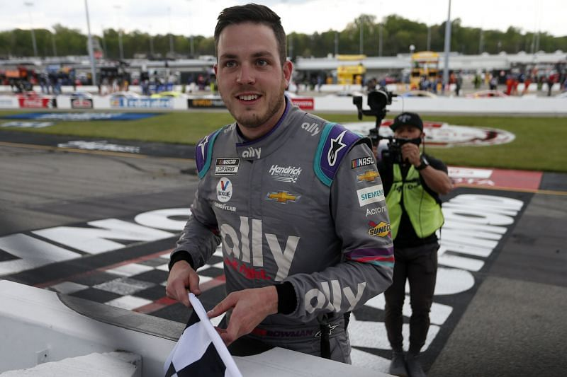 Alex Bowman scored his first win of the season. (Photo by Brian Lawdermilk/Getty Images)